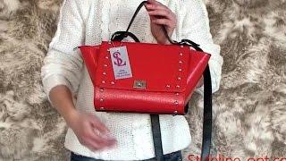 Видео обзор - Женская красная сумка