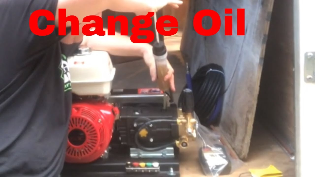 what type of oil goes in a pressure washer