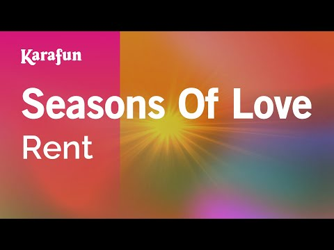 Karaoke Seasons Of Love - Rent *