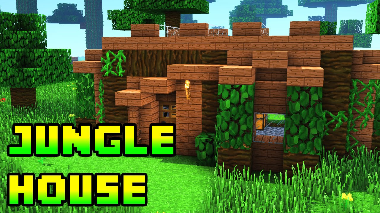 minecraft jungle house tutorial xboxpepcps3ps4 youtube