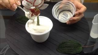 Как посадить орхидею в вазон. БИСЕРОПЛЕТЕНИЕ ДЛЯ НАЧИНАЮЩИХ How to plant a beaded flower?