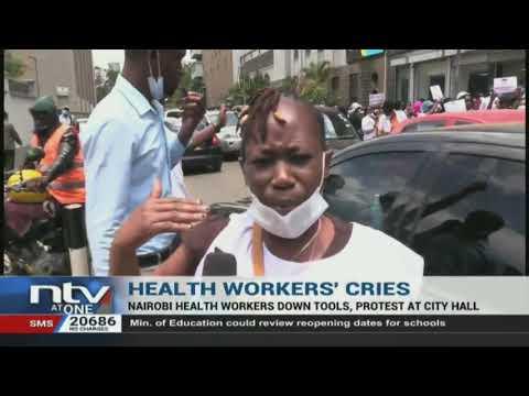 Nairobi health workers on strike