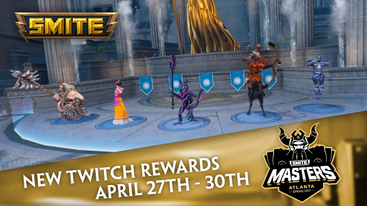 Smite Masters Twitch Drops Exclusive Skins April 27th 30th
