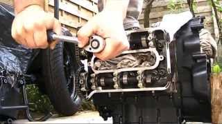 BMW k75 rebuild 5/     Engine head check