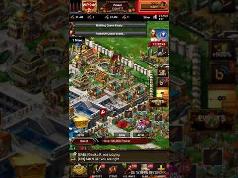 Game of war- Smart troop training for 1 click training