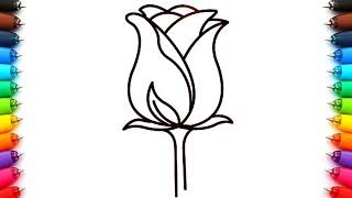 Como Dibujar Una Sola Rosa Y Un Ramo De Rosas Dibujos Faciles De Flores De Amor Youtube