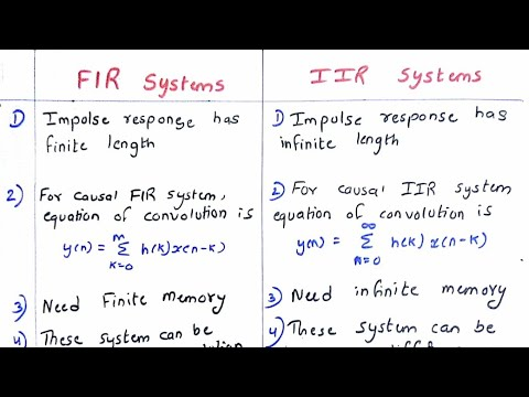 FIR and IIR comparision in Hindi | dsp...
