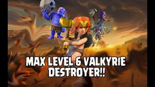 NEW MAX LEVEL VALKYRIE DESTROYER | TH11 TROPHY PUSH & WAR ATTACK STRATEGY | CLASH OF CLANS