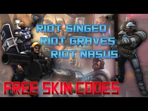 Riot Graves Code, Riot Singed Code and Riot Nasus Code