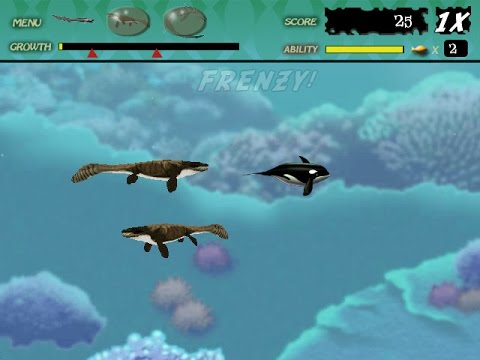 Feeding Frenzy Custom Level : Dinosaur Sea