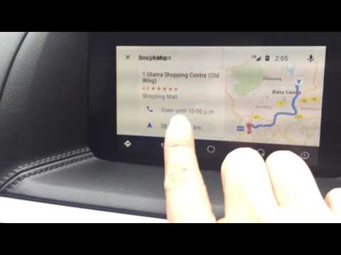 Mazda Connect Android Auto Navigation using Google Maps to One Utama