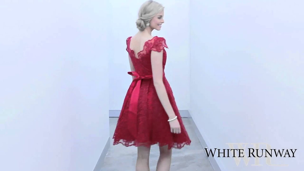 Elizabeth Dress - White Runway - YouTube 031cde9d6