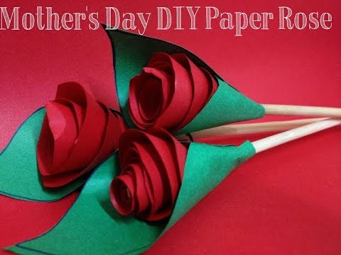 REALISTIC Red Origami Roses  Mothers Day Craft for Teens