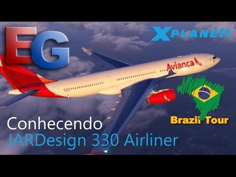 Xplane11 - Conhecendo Jardesign 330 Airliner (Avianca) (Hd) - YT