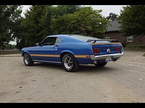 1969 Ford Mustang Mach 1 in Acapulco Blue & 351 Engine Sound on My Car Story with Lou Costabile