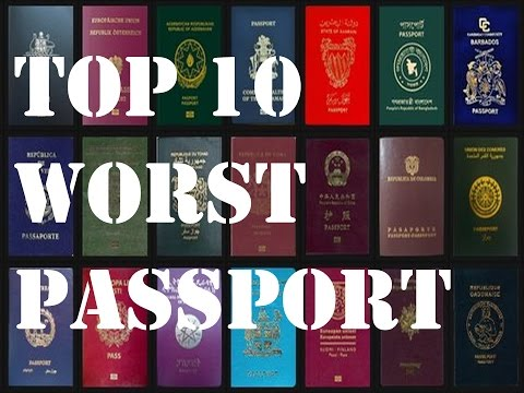 Top 10 Worst Passports in the World - 2017