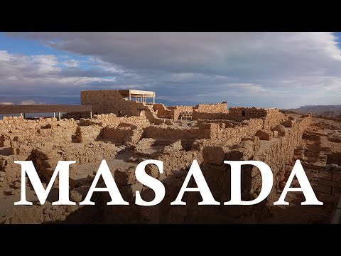 MASADA Is An Ancient FORTRESS In The Desert Near The DEAD SEA