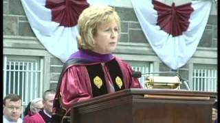 Mary McAleese, President of Ireland Addresses Class of 2010