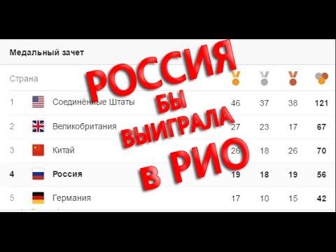 Медальный зачёт Олимпиада Рио 2016 Рио де жанейро Олимпиада 2016  Россия ПОБЕДИЛА если...