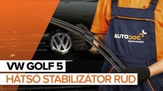VW GOLF Ablaktörlő cseréje: felhasználói kézikönyv