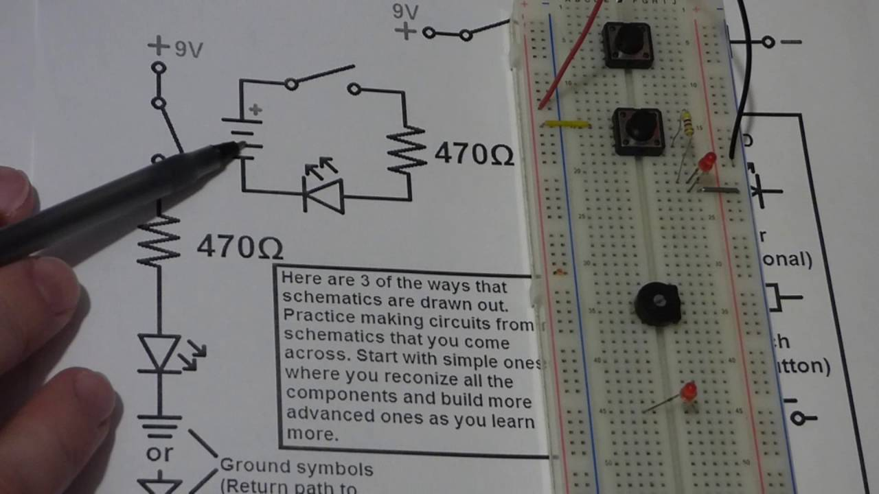 Learn electronics quick video series tutorials 6 schematic reading ...
