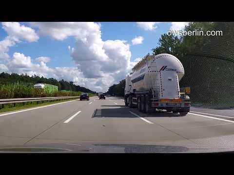 German Autobahn/Highway: Berlin - Słubice. Немецкий автобан, Берлина - Слубице.
