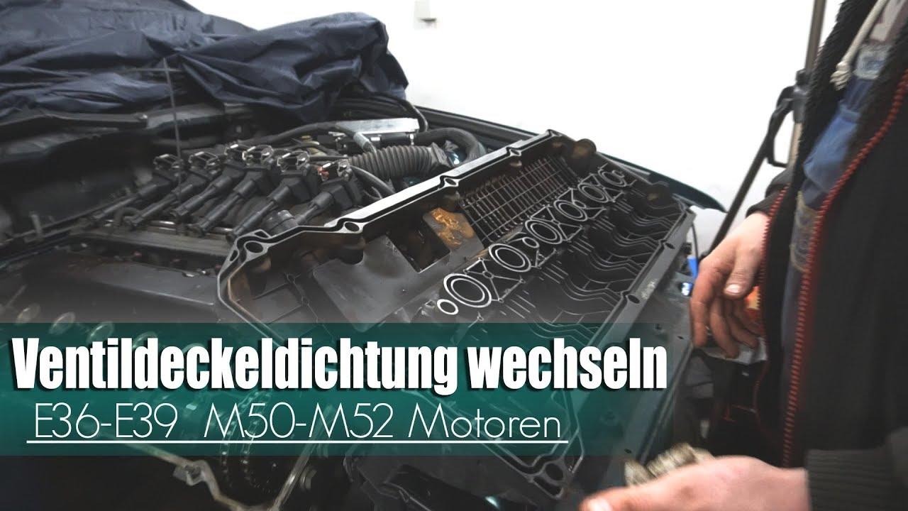 Ventildeckeldichtung Wechseln BMW E36 E39 M50 M52 Motoren PatricksBMWkanal