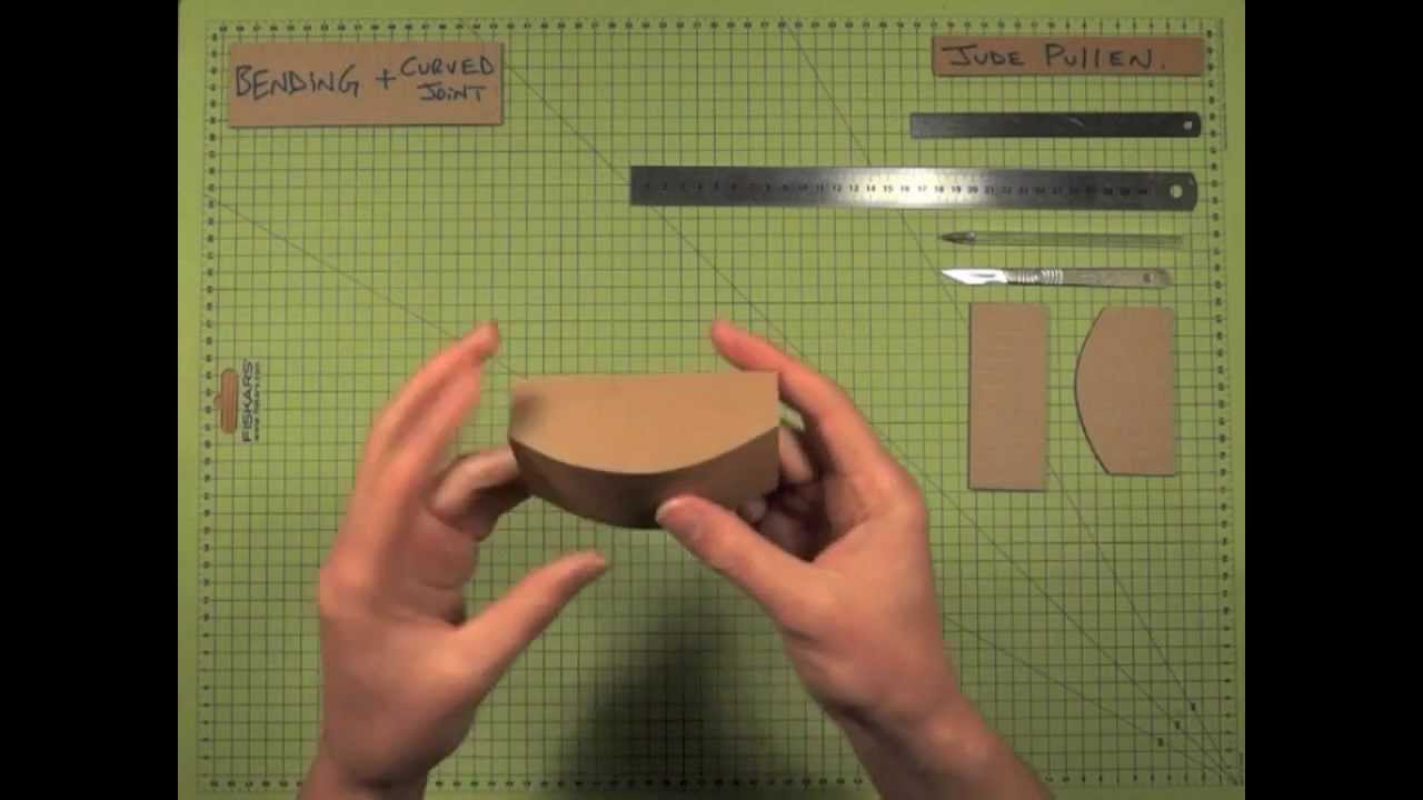 CURVED JOINT in Cardboard Tips Design Modelling  YouTube