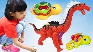 Trò Chơi Khủng Long Ăn Đẻ Trứng Ăn Kẹo Mút ❤ AnAn ToysReview TV ❤
