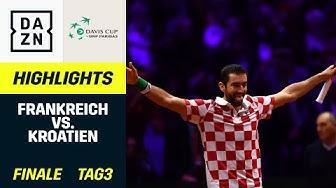 Davis-Cup-Finale Tag 3: Frankreich - Kroatien | Davis-Cup | DAZN Tennis