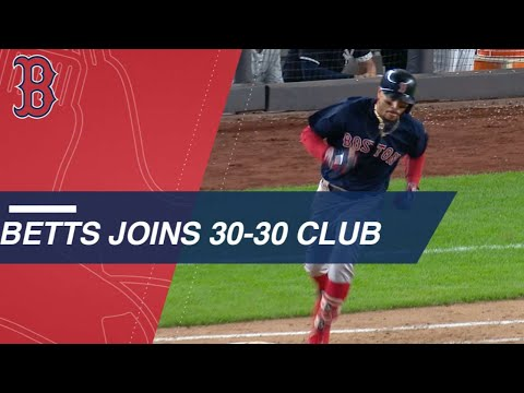 betts-becomes-2nd-red-sox-player-to-join-30-30-club