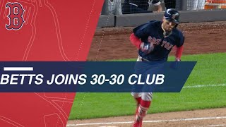 Betts becomes 2nd Red Sox player to join 30-30 club