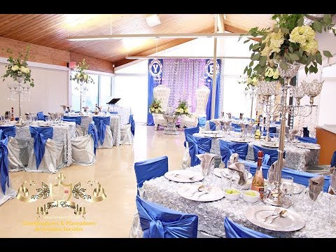 Faos events decoracion para boda color azul royal y plata for Decoracion para casamiento