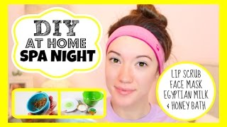 At Home Spa Night + Microdermabrasion! DIY Lip Scrub, Face Mask & Milk Bath Recipes! | Blair Fowler