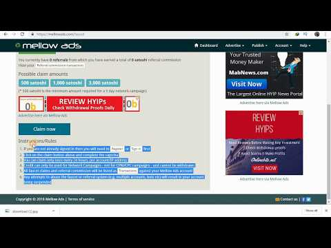 Mellow Ads; Free Bitcoin Advertising And Earn Btc One Faucet 1000 Satoshi[hindi]