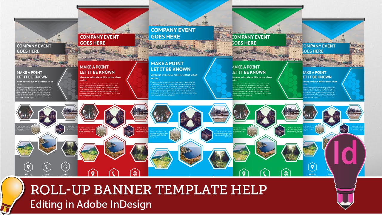 how to draw a banner in indesign