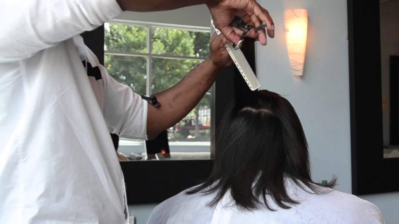 How To Silk Press Natural Hair Top Salon In Atlanta Makeover Youtube