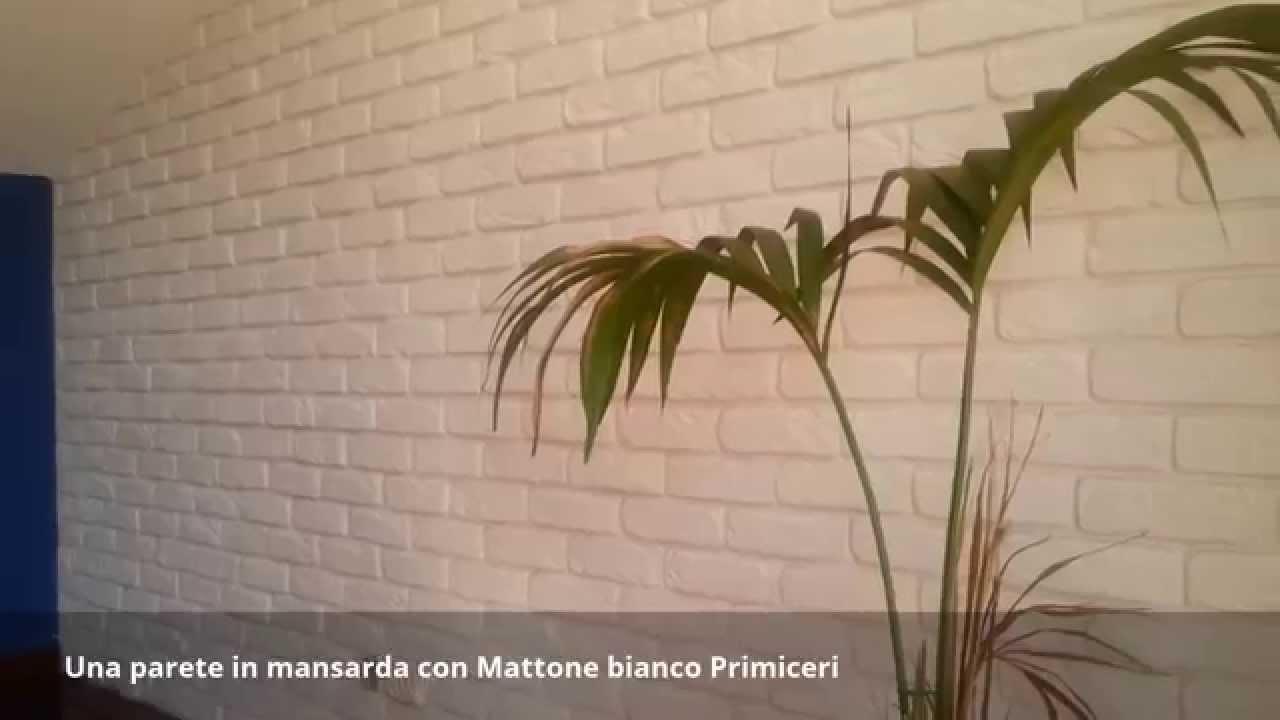 Parete Con Mattoni A Vista Finti : Una parete in mansarda con mattone bianco primiceri youtube