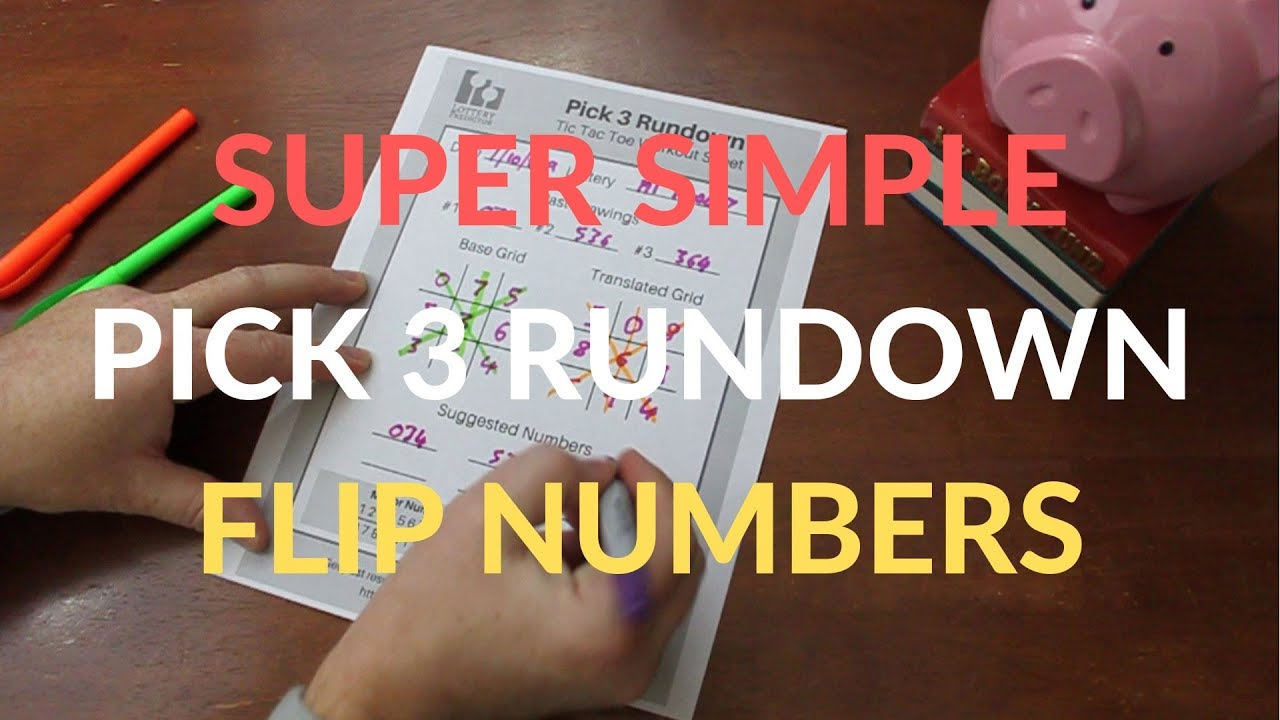 Simple Pick 3 Lottery Flip Number Rundown
