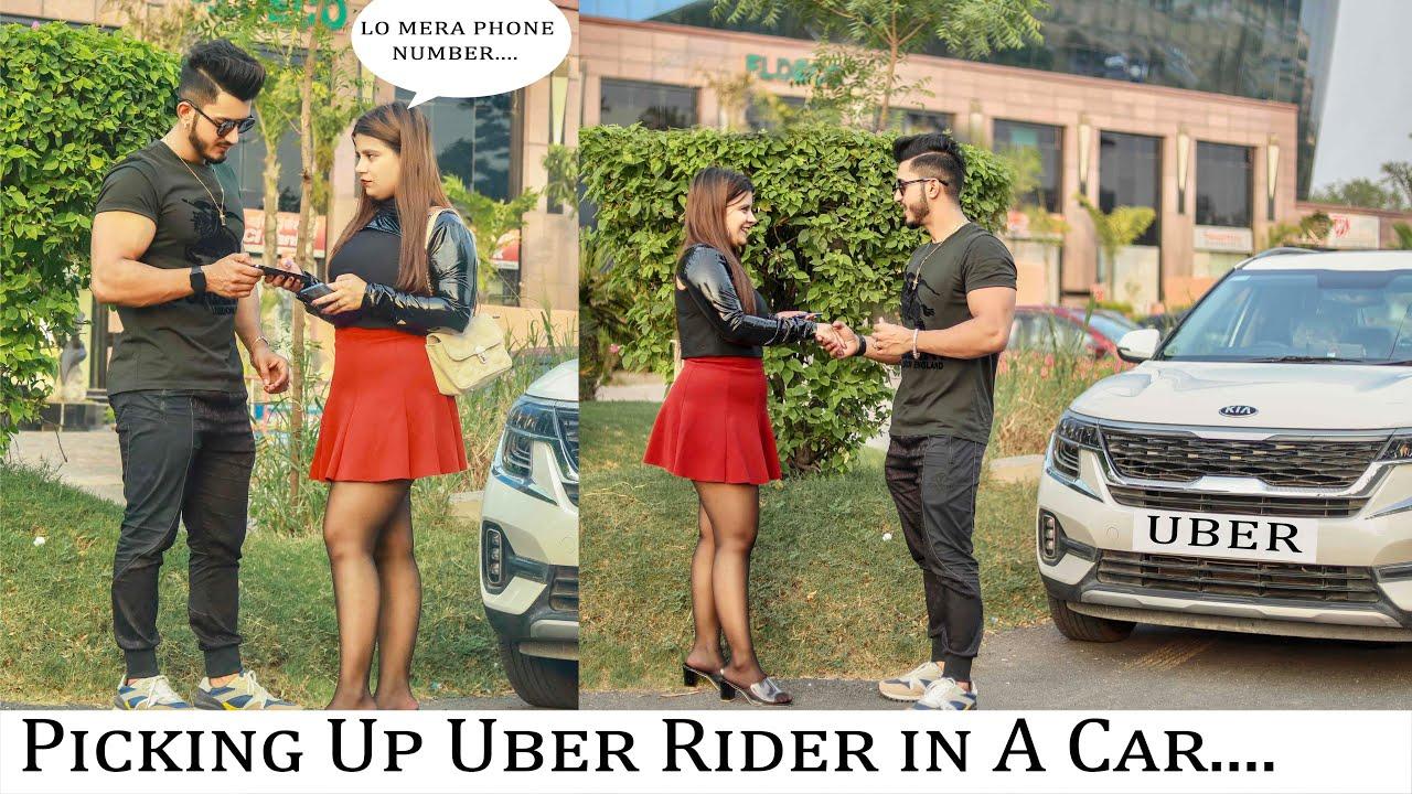Uber Prank | Picking Up Uber Riders In A Car || Sam Khan