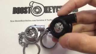 Boostnatics Electric Spinning Turbo Keychain with LED and Spooling + BOV Sounds - Version 4