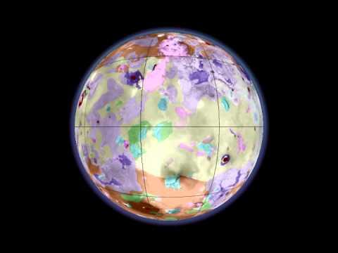 Rotating Globe of Io Geology