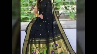 New Cotton Paithani Saree Collection||Beautiful Natural Color Combination Of Paithani Saree||