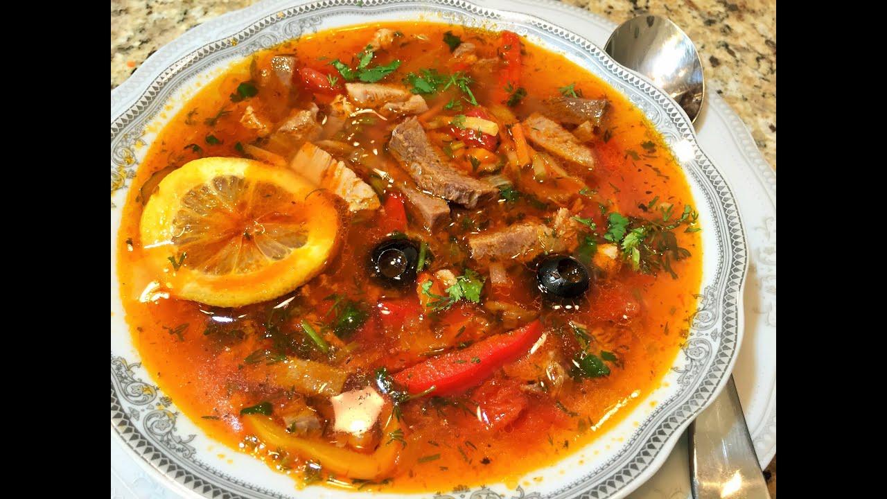 Суп солянка рецепт без мяса только колбасы — 6
