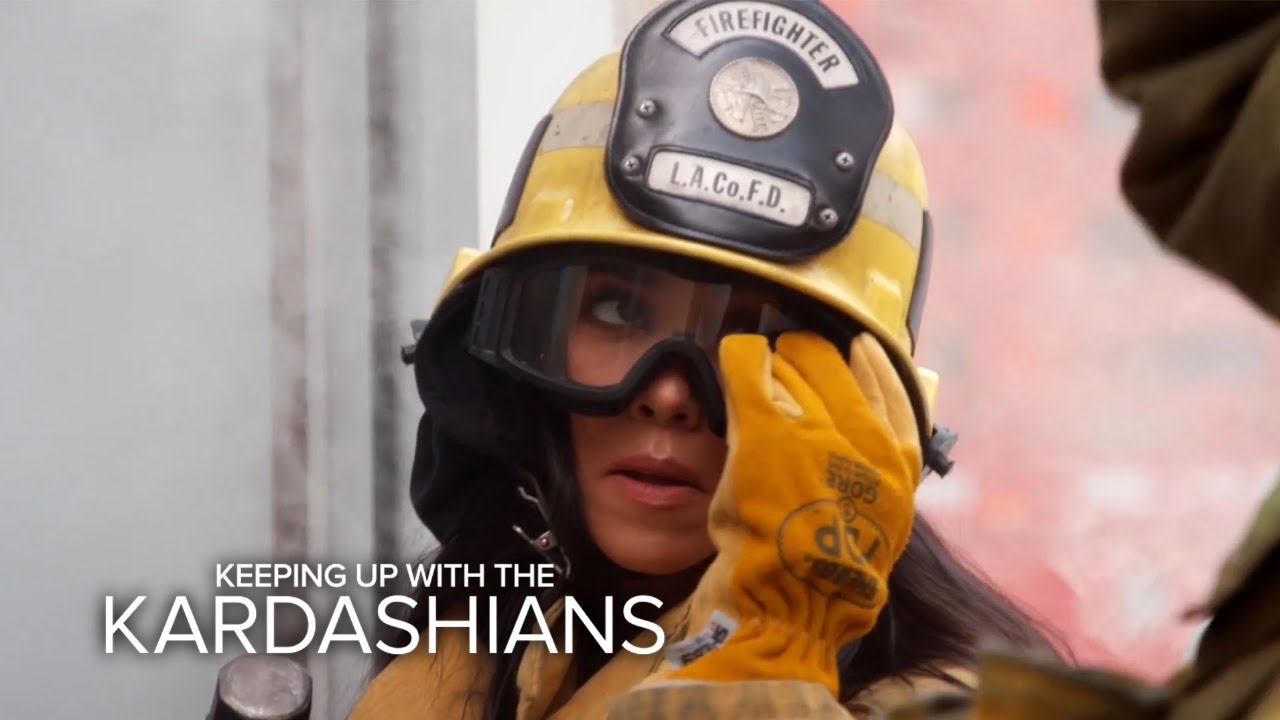 KUWTK | Kourtney Kardashian Fails as a Firefighter | E!