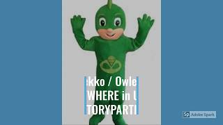 PJ Masks Birthday Party Costume Characters Catboy Gekko Owlette | Adult PJ Masks Mascot Rentals