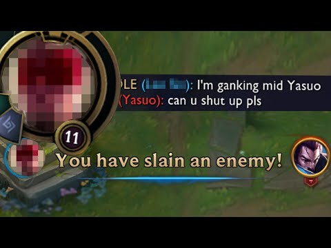 League of Legends but I have to announce ganks in /All Chat