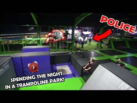 Thumbnail: OVERNIGHT IN A TRAMPOLINE PARK *POLICE CAME*