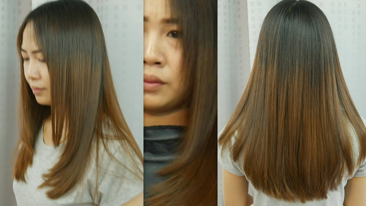 Long Hair Styles And Cuts: Long Hair Cut U Shape ตัดผมยาวตัว ยู