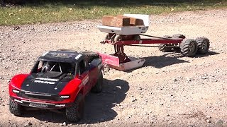 TRAXXAS UDR PULLS the JUDGE! Weight Sled - 30 FT Tractor Pull | RC ADVENTURES